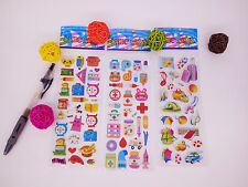 3 sheets puzzle Bubble stickers lot kids baby teaching Kindergarten reward gift