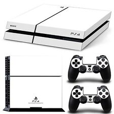 Sony PS4 Design Skin Playstation 4 PS4 Schutzfolie Set Aufkleber Sticker Weiß