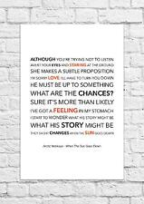 Arctic Monkeys - When The Sun Goes Down - Song Lyric Art Poster - A4 Size