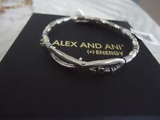 Alex and Ani INFINITE LOVE WRAP Russian Silver Charm Bangle New W/Tag Card & Box
