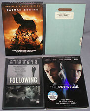 Christopher Nolan DVD LOT: Batman Begins, Memento, Following, The Prestige