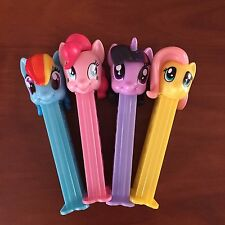 PEZ My Little Pony -Twilight Sparkle, Rainbow Dash, Pink Pie, Fluttershy - Loose