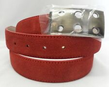 Marco Valentino Red Suede with Red Stitching Leather Belt Size 44