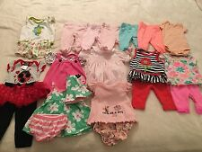 Lot of 14~~~ Newborn 0-3 Month Baby Girl Infant Onesies Dresses Outfit Carters