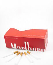 200 NEW Marlboro Red King size cigarette papers tubes with 15mm filter!