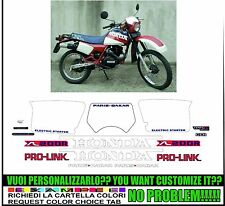 kit adesivi stickers compatibili xl 200 paris dakar 1983