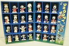 28 McDonald's Intl Peanuts Snoopy World Tour Part 1 Figurines Collectable Box