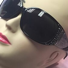 Sunglasses - Black w Diamante Sides Aviator Style Beach Holiday Opia Primark