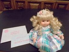 Marie Osmond Tiny Tots Angelica's 1st Birthday Doll + COA + Necklace