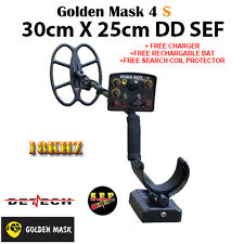 Golden Mask 4 S metal detector with 30cmx25cm.DD SEF search coil 18Khz