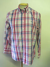 "Genuine Tommy Hilfiger Check Shirt - M 38-40"" Euro 48-50 - Pink & Blue"