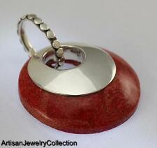 CORAL 925 STERLING SILVER BALI PENDANT ARTISAN JEWELRY COLLECTION P054