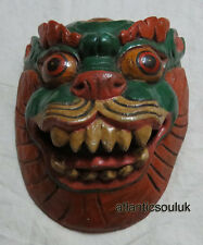 M415 Hand Craft home decor Animal face Dragon Wall Hanging WOODEN art MASK Nepal