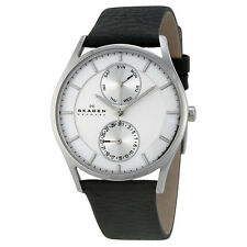 Skagen Grenen Multi-Function Silver Dial Black Leather SKW6065