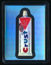 2014 WACKY PACKAGES CHROME BLUE LUDLOW REFRACTOR #12 CRUST TOOTH PASTE 13/50