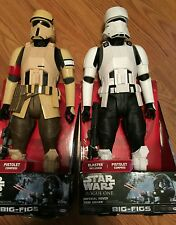 "Star Wars 18"" Inch BIG FIGS Scarif Shoretrooper & Hover tank pilot 2 figs GLOBAL"