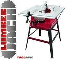 """Lumberjack 10"""" Bench Table Saw with Blade, 3 Extensions & Leg Stand 240V New"""