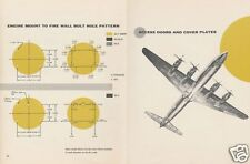 Douglas DC-4 DC-6 DC-7 Service Inspection Manuals RARE DETAILED ARCHIVE 1960's
