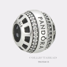 Authentic Pandora Sterling Silver Forever Pandora Clear CZ Bead 791753CZ
