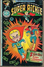 SUPER RICHIE RICH #1 HARVEY 09/75 SUPERHERO + OTHER STORIES & GAGS 52 PGS FINE+