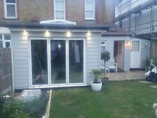 New, Quality Aluminuim Bi fold Doors inc Glass 3 panels White. Look At Feedback