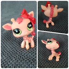 Littlest Pet Shop giraffe green star eyes #943 girafe yeux verts étoiles Bow