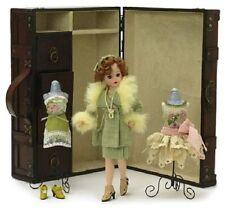 """Madame Alexander 10"""" Doll 1920s Cissette Wooden Trunk Set Collectible LE 2007"""