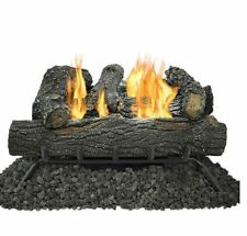New 18-in 30000-BTU Dual Vent-Free Gas Durable Fireplace Logs with Thermostat