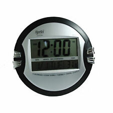 AJANTA DIGITAL WALL CLOCK SILVER BLACK COLOR MODEL ODC–110 WITH 1 YEAR WARRANTY