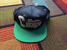 New Deadstock AJD Boston Celtics Snapback Hat Cap Green Black Basketball Vtg 90s