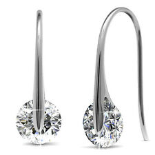 GENUINE CRYSTALS BY SWAROVSKI Hook Drop Earrings 18KGP - Krystal Couture