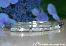 Extravagant: Diamanten Armreif im Bambus Design, 0.74 ct. W-SI1/2 WG-585 3.740€