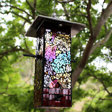 BlueDot Trading Mosaic Stained Glass Seed Bird Feeder US Seller FREE SHIPPING