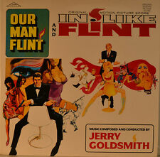"OST - SOUNDTRACK - OUR MAN FLINT & IN LIKE FLINT - JERRY GOLDSMITH 12"" LP (M11)"