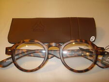AUTH MONTANA VINTAGE  PREPPY ROUND READING GLASSES READERS TORTOISE 2.00