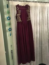 ASOS Plum Occasionwear Maxi Dress With Beading Size 14