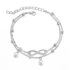 Jewelry Foot Silver/Gold Bead Chain Anklet Ankle Bracelet Barefoot Sandal Beach