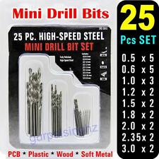 25Pcs Mini PCB Micro HSS Twist Drill Bits Set Size 0.5~3.0mm DIY