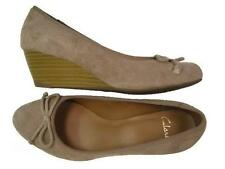 Clarks Womens ** DUBLIN STREETS ** WEDGE TOBACCO SUEDE**  UK 8