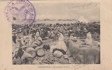 MAROC MOROCCO GUERRE campagne 1912 CASABLANCA mouvement du port écrite