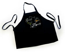 "HOTFIX RHINSTONES CRYSTAL IRON ON APRON ""Group Therapy 3  bling Apron handmade"""