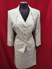 KASPER SKIRT SUIT/SIZE 16/GOLDEN HONEY/NEW WITH TAG/RETAIL$240/LINED
