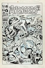 Heck, Don THE AVENGERS 37 UNPUB COVER Large Original Art (1967) CAPTAIN AMERICA