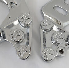 99-07-08-16 Hayabusa Chrome 3D Engraved Front Peg Bracket Mounting Bolts/Covers!