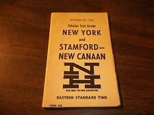 OCTOBER 1962 NH NEW HAVEN NYNH&H STAMFORD/NEW CANAAN PUBLIC TIMETABLE FORM 223