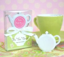 96 PERSONALIZED Teapot Tea Party Keychain Measuring Tape Wedding Favors