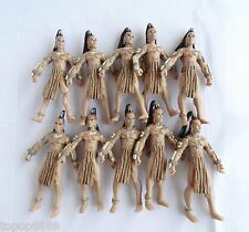 #A1~LOT OF 10 Indiana Jones UCHA WARRIOR ACTION FIGURE ONLY FIGURE