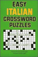 Easy Italian Crossword Puzzles by Nancy Parato Goldhagen and Richard...