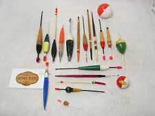 Vintage Collection of Cork Wood Quill Etc Coarse Fishing Floats x 20