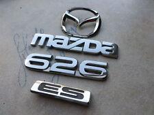 99-01 Mazda 626 Es Rear Trunk Decal Emblem Logo Nameplate Script Ornament Set